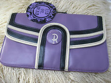 NEW BNWT Ladies RED OR DEAD purple faux leather CLUTCH HANDBAG gift