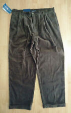 Gant Mens Corduroy Pants 38x30 Casual Slacks Cuffs NWT Brown
