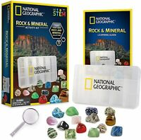 NATIONAL GEOGRAPHIC Rocks & Minerals Activity Kit 15-Pieces Rock Collection