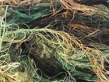 Dark Horse Yarns Lovely Lash #109 Black Forest Eyelash Yarn 50gr 92y Green Brown
