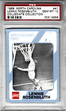 1989 North Carolina Finest Lennie Rosenbluth Collegiate Collection PSA GEM MT 10
