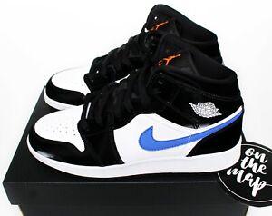 Nike Air Jordan 1 Retro Mid Racer Blue Black White GS UK 3 4 5 6 7 US New