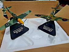 Battle of Britain Set Bf109 e Supermarine Spitfire  WWII - Scala 1:72 Die Cast