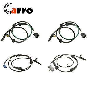 Set of 4 New ABS Wheel Speed Sensor Front & Rear Fits Nissan Murano 2009-2014