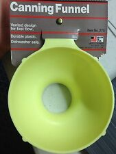 Foley Kitchen Canning Funnel - Hard to find, Yellow, New!