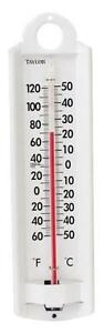 "NEW TAYLOR 5135 9"" ALUMINUM INDOOR & OUTDOOR THERMOMETER 6230361"