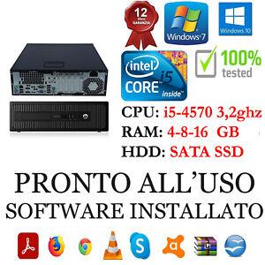 COMPUTER HP G1 I5-4570 3,2GHZ RAM 4-8-16GB HDD SATA O SSD USB 3.0 GAR 1 ANNO