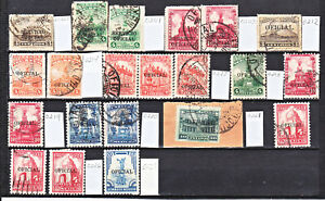 MEX 1921-30   (21) OFFICIAL  STAMPS   SC#0200//27   CV$44+  (a1628)