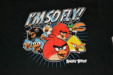 "Angry Birds ""I'm So Fly!"" T-Shirt Men's Size Large Color: Black New w/ Tag!"