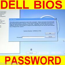 Dell BIOS Unlock Service System Admin BIOS Password PRECISION 1F5A, 3A5B