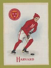 1910 LG Murad tobacco silk S21  HARVARD UNIVERSITY  Hockey Player  TOUGH