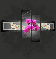 ORCHIDS ABSTRACT DESIGN CASCADE PREMIUM QUALITY PICTURE CANVAS PRINT FREE UK P&P