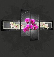 Orquídeas Abstracto Diseño Cascade Premium calidad de imagen Lona Impresión Gratis Reino Unido Envío