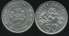 SINGAPOURE 50 cents 1987  ( bis )
