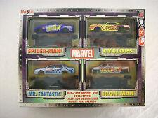 Maisto Marvel Die-Cast Model Kit Collection 2002 MIB 4 Cars