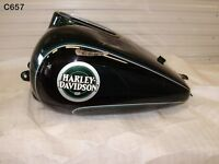 HARLEY DAVIDSON FLHTCUI 1996 FUEL TANK WITH PUMP GENUINE GREEN BLACK  C657