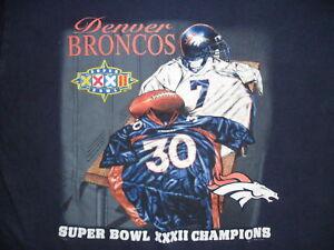 vtg DENVER BRONCOS SHIRT Super Bowl JOHN ELWAY jersey Men Unisex Adult LARGE