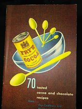 Fry's Cocoa Cook Booklet 70 Tested Recipes Fry Cadbury Montreal