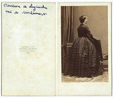 photo cdv royale - La comtesse de Laguiche née de Mortemart 1860- Disdéri Paris