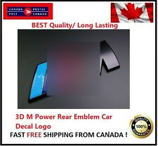 3D Black Badge M Power Rear Emblem Car Decal Logo Sticker Fit BMW M M3 M5 NEW M6