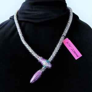 Betsey Johnson 'Iconic Amethyst' Long Snake Necklace  NWT/HTF!