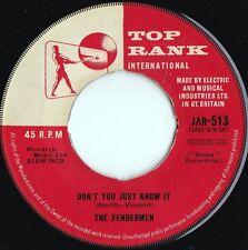 Fendermen ORIG UK 45 Don't you just know it EX '60 Top Rank JAR513 Rockabilly