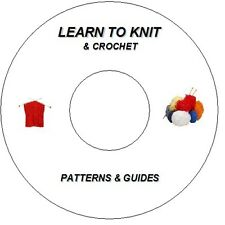 NEW LEARN TO KNIT + CROCHET DVD OVER 1200 PATTERNS BABY/TODDLER, BLANKETS/SHAULS