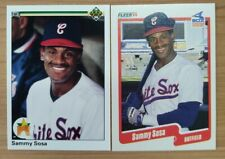 🔥 Lot(2) Sammy Sosa Rookie MT+ 1990 Upper Deck Fleer Chicago White Sox MLB