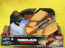 HOW TO TRAIN YOUR DRAGON TIMBERJACK WING CHOP LARGE ACTION DRAGONS FIGURE