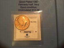 Kennedy Half dollar, gold -plated