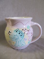 SUSAN PAINTER POTTERY FISH THEMED ROUND PITCHER IN EXCELLENT CONDITION