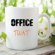 Funny Novelty Mugs Office Twat Colleague Funny Gift Ideas Work Mug WSDMUG142