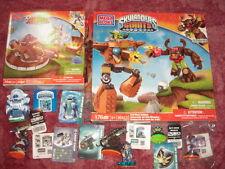 2 Skylanders Giants Mega Bloks Cajas + Imperio De Hielo, Chop Chop, Luz Chill + Escudo