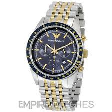 Reloj Cronógrafo * nuevo * Para Hombres EMPORIO ARMANI TAZIO Azul-AR6088-RRP £ 359.00