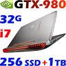 "ASUS ROG G752VY-GC132T i7-6700HQ 32GB 256G SSD + 1TB 17.3"" FHD GTX980-4GB Gaming"
