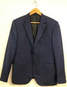 Peter Jackson Men Suit Jacket Blazer Formal Business Wedding Fit Navy Blue Mens