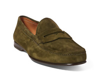 $895 Ralph Lauren Purple Label Mens Chalmers Suede Penny Loafer Driver Shoes NIB