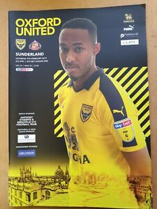 Oxford United V Sunderland League One 9th Feb 2019
