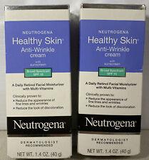 2 Neutrogena Healthy Skin Anti-Wrinkle Cream Night 1.4 oz. Exp 02/21