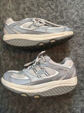 SKECHERS SHAPE-UPS Metabolize Fitness White Silver Walking Shoes Size 9 11814
