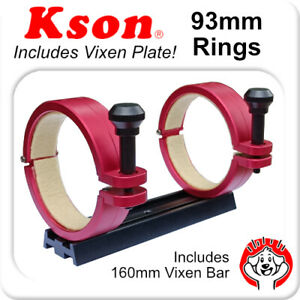 93mm Telescope Rings – Pair (x2) with 210mm Vixen Plate, Screws for 90mm Tubes