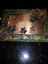 Jay Strongwater Leaf (Autumn) Picture Frame. Rare And Retired.