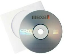 10 Maxell CD-R 700mb 80Min 52x Blank Recordable Data Discs Lose packed No Sleeve