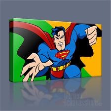 SUPERMAN COMIC ROY LICHTENSTEIN STYLE ICONIC CANVAS POP ART PRINT Art Williams