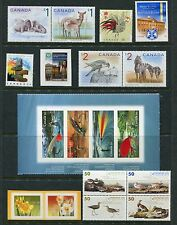 Canada 2005 Year Set NH, 106 Stamps - 15 Sheets & 52 Stamps, Complete By Scott