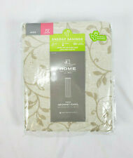 "JCP Home Anza Vine Pattern Linen Beige Lined Grommet-Top Curtain Panel, 50""x72"""
