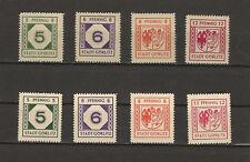 Germany (Gorlitz) Mi 1-4 & 9-12 MNH