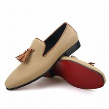Merlutti Brown Tassel Khaki Casual Loafers