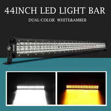 9D Dual Color 44inch 1152W w/ LEN Led Light Bar Combo Off-road 4WD ATV UTE Truck