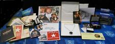 Titanic Heart Of The Ocean Necklace Replica LOT By J. Peterman 20th Century Fox